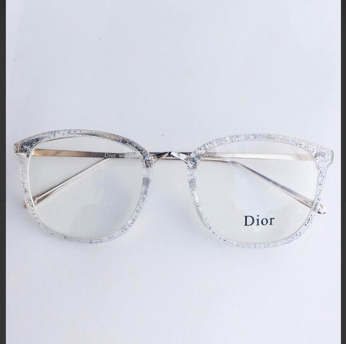 9ef2c43bd Óculos De Grau Dior Feminino Transparente - R$ 110,00 em Mercado Livre