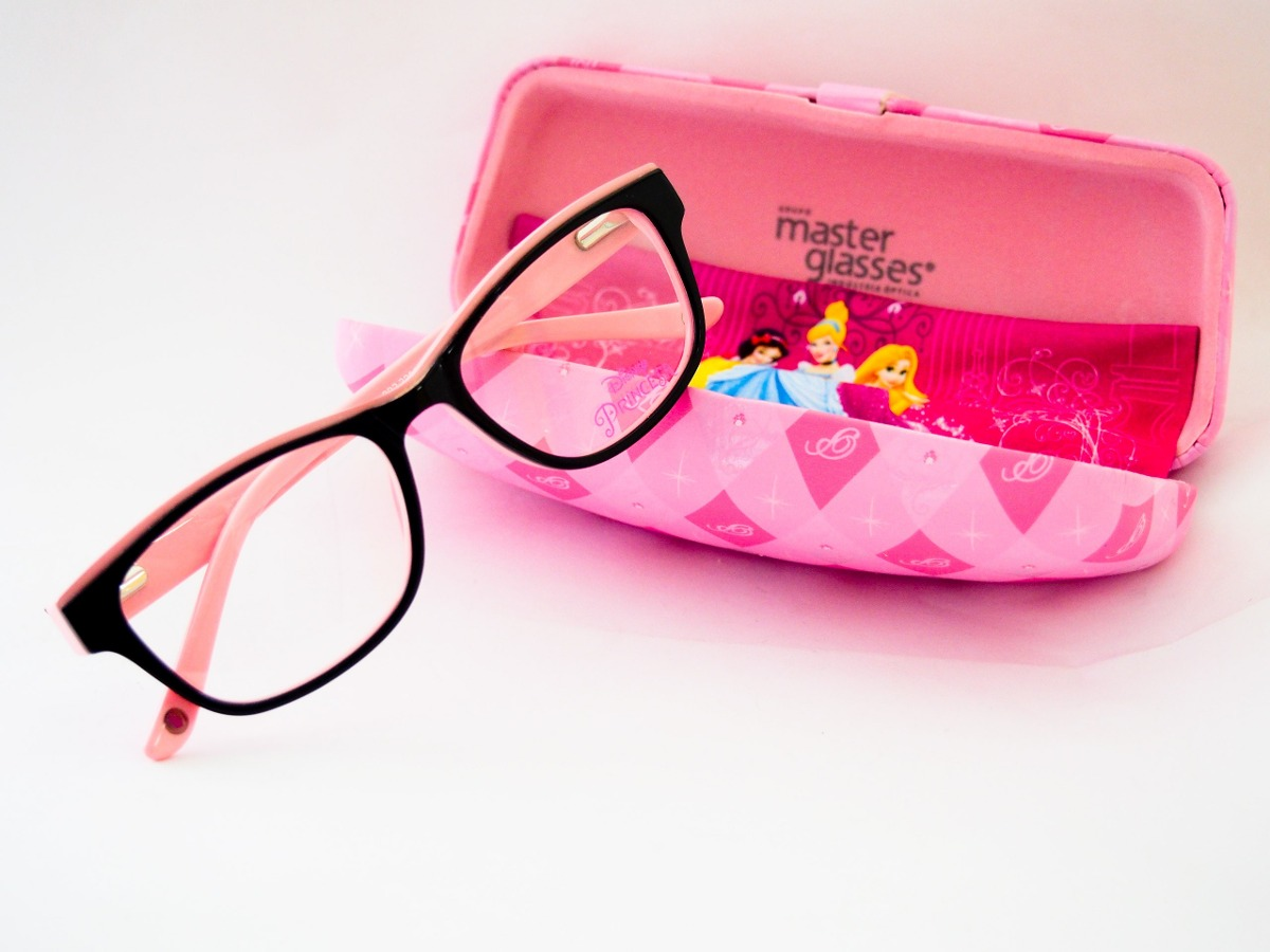 141f0b2a0 óculos de grau disney princesas infantil preto com rosa. Carregando zoom.