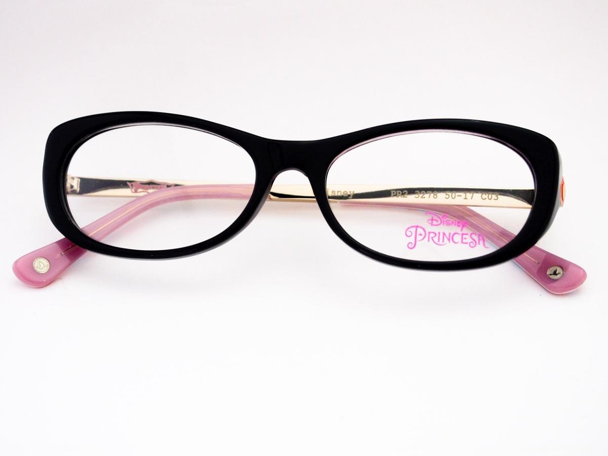 d0c41ec4be286 óculos de grau disney princesas infantil preto pr23278. Carregando zoom.