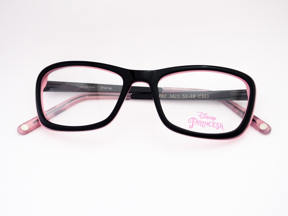 4a93bbcd8 óculos de grau disney princesas infantil preto pr23423. Carregando zoom.