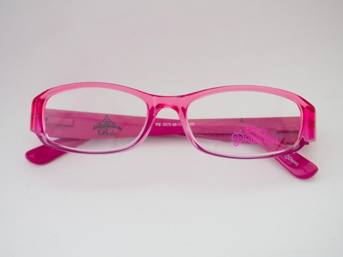 Óculos De Grau Disney Princesas Infantil Rosa P22979 - R  299,00 em Mercado d5e5dcb3a8