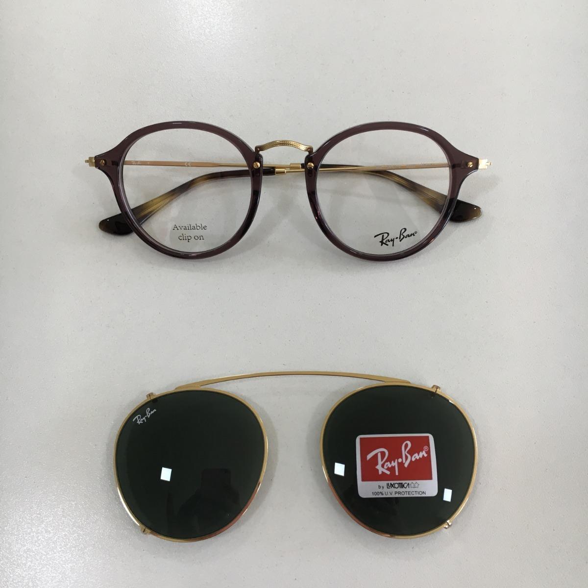 ee2954518 óculos de grau e acessório ray ban clip on rb2447-v 2500/71. Carregando zoom .