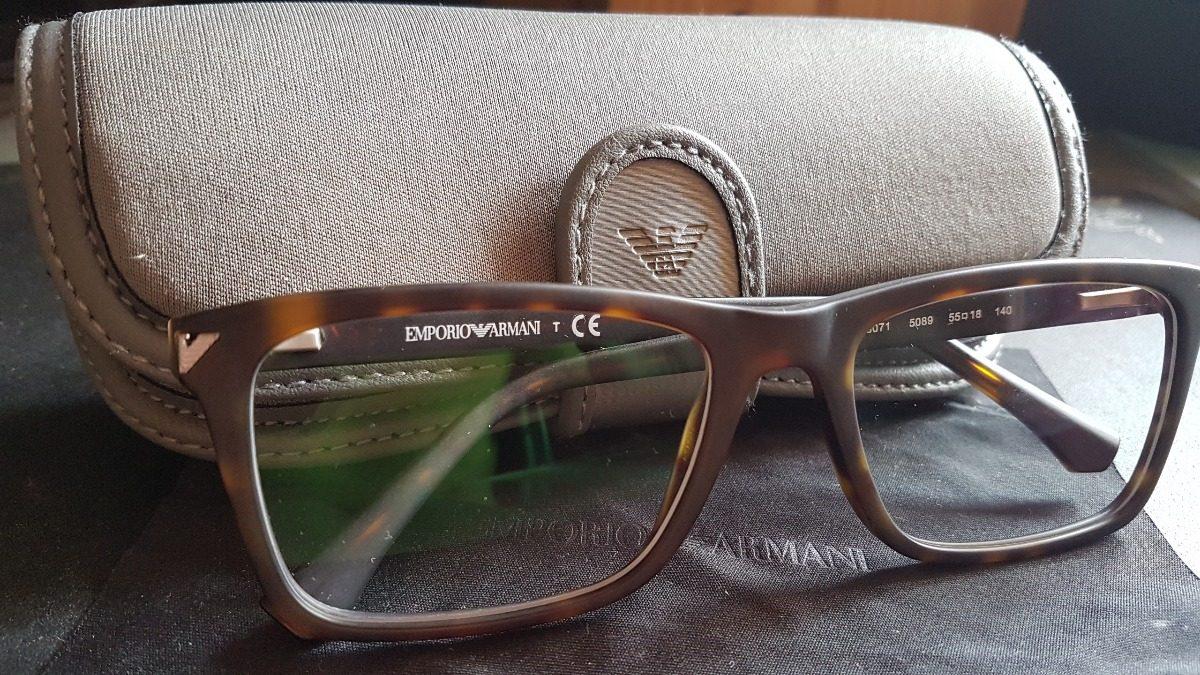 fb707d8a71d Óculos De Grau Emporio Armani Ea3071 5089 55x18 140 - R  318