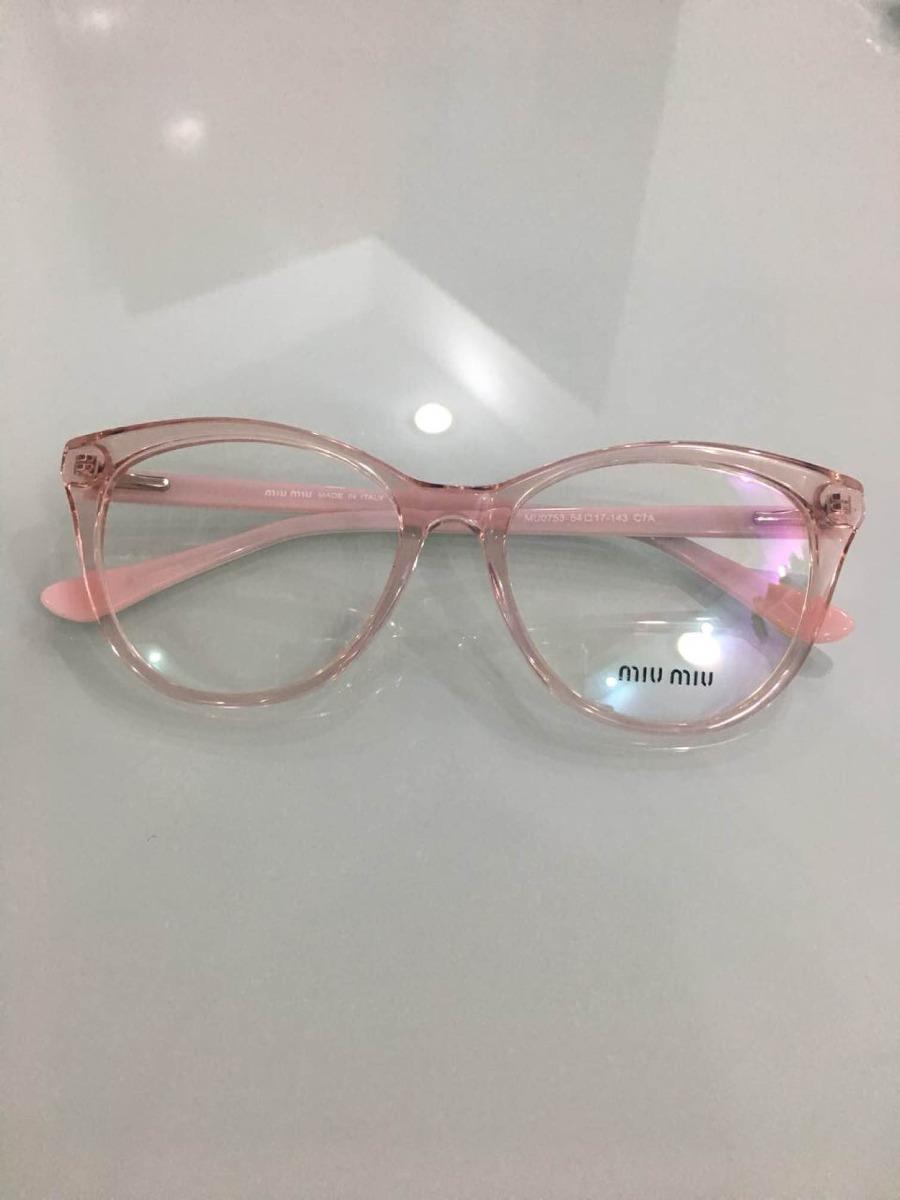 0b151c1444088 óculos de grau femenino - modelo mu0753 - transparente rosa. Carregando  zoom.