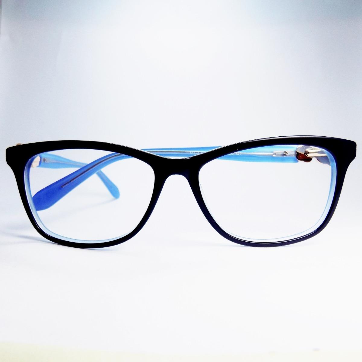 cfc1d0bb2 óculos de grau feminino acetado azul escuro mc133 c1original. Carregando  zoom.