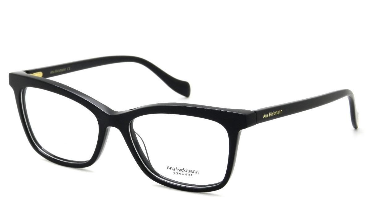 óculos de grau feminino ana hickmann ah6335 a01 54 - preto. Carregando zoom. 460c104e1b