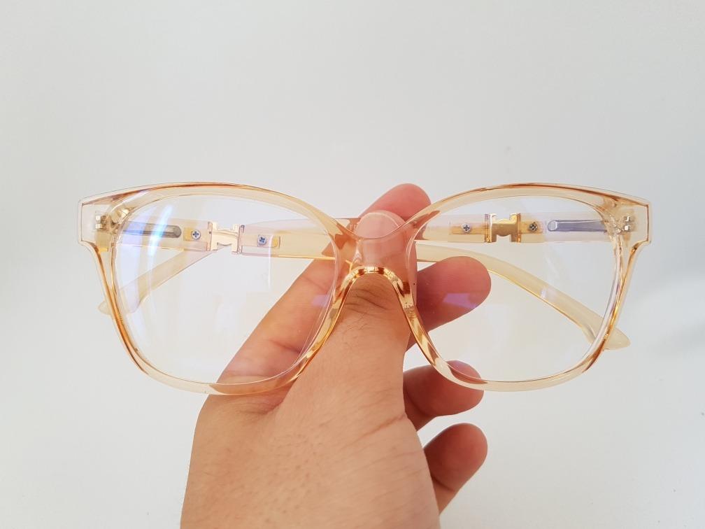 oculos de grau feminino armação acetato transparente gold. Carregando zoom. 54bc87fafb