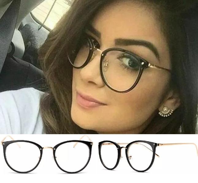 Oculos De Grau Feminino Armação Em Acetato Geek Vintage Gato - R  38 ... 447b6413f8