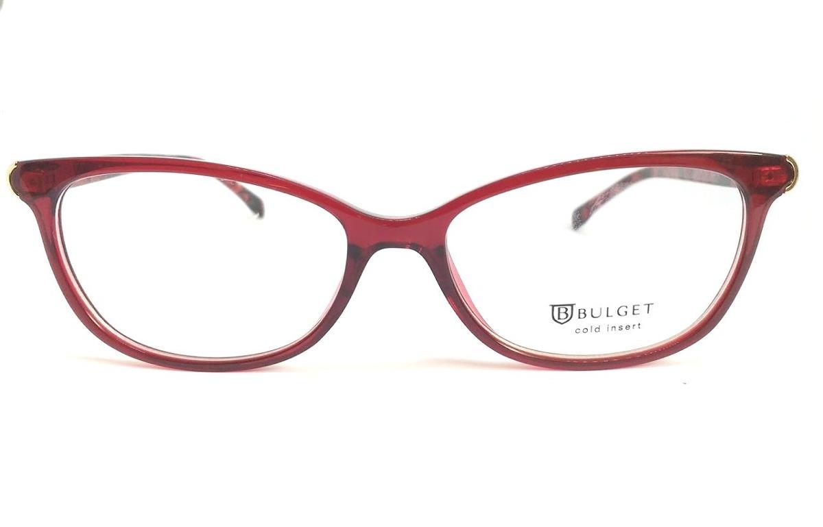 Óculos De Grau Feminino Bulget Bg 4098 T01 Lente 5,3 Cm - R  209,00 ... f7887253f6
