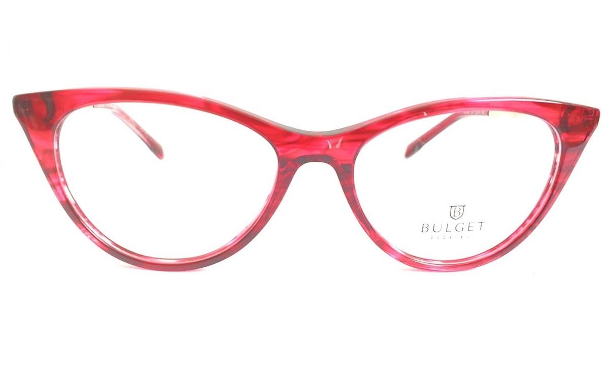 Óculos De Grau Feminino Bulget Bg 6268 E04 Lente 5,2 Cm - R  229,00 ... 52ebf482f7