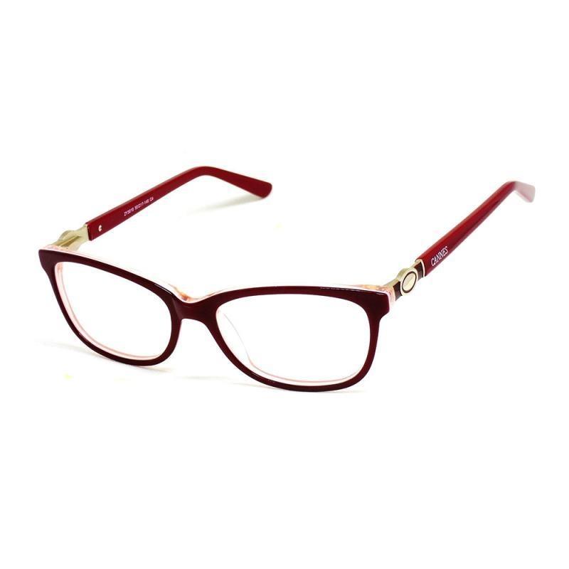 b3969bce931a0 óculos de grau feminino cannes 3010 t 50 c armação vermelho. Carregando zoom .