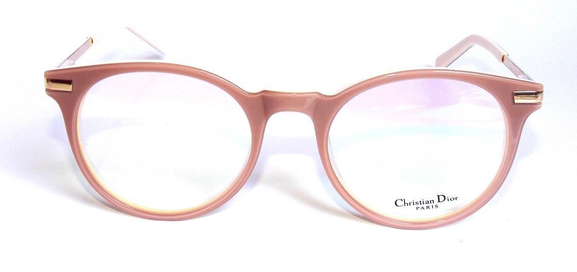 Óculos De Grau Feminino Dior D.201 Redondo Bege Promoção - R  110,00 ... 4b0999fef3