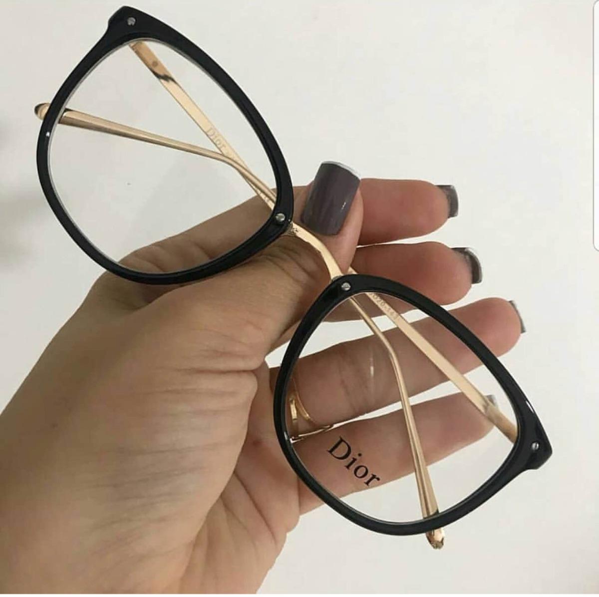 efb0cd9d5f8 óculos de grau feminino dior metal preto. Carregando zoom.