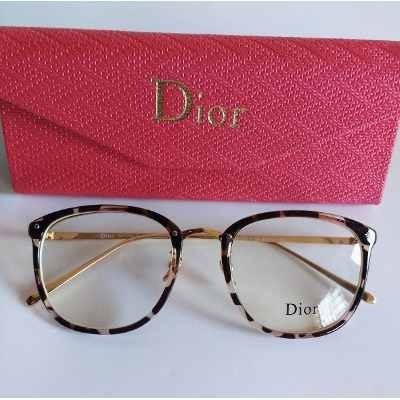 0a3a90d9b Óculos De Grau Feminino Geek Dior Quadrada Dourada Oncinha - R$ 34 ...
