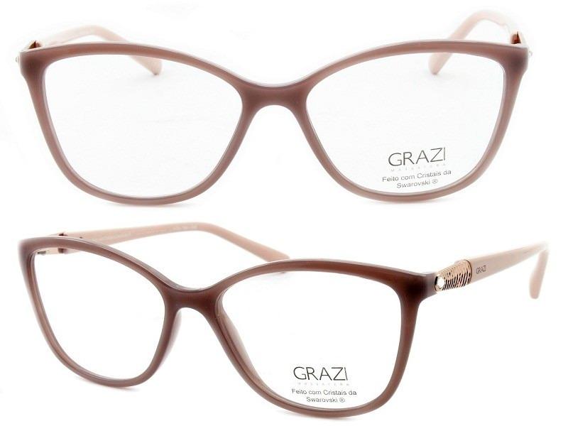 4798f7dbd7b21 Óculos De Grau Feminino Grazi Massafera Gz3022b E102 - R  279,00 em ...