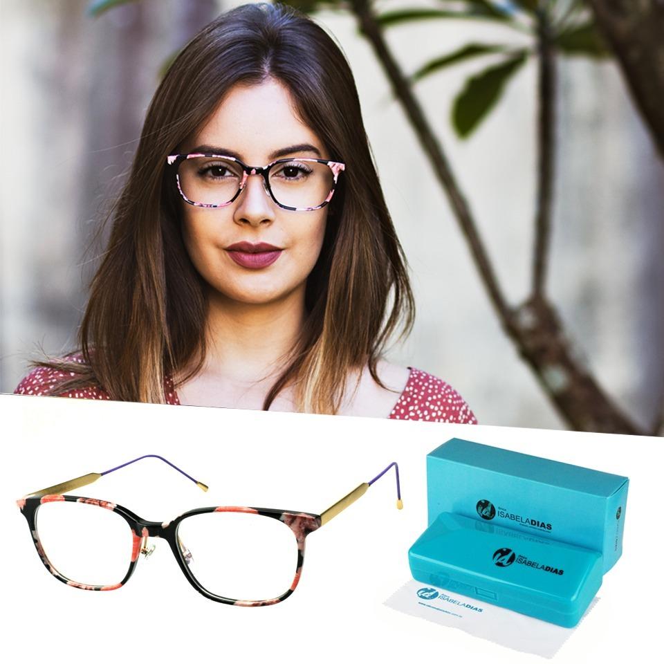 2627782cf óculos de grau feminino isabela dias original acetato 1315. Carregando zoom.
