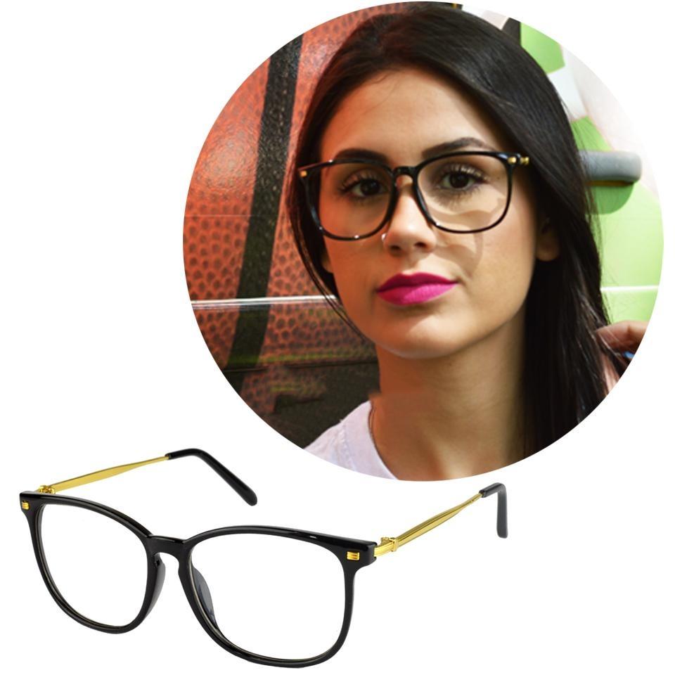 f45f37ea8c885 Óculos De Grau Feminino Original Quadrado Preto 5507 - R  120,00 em ...