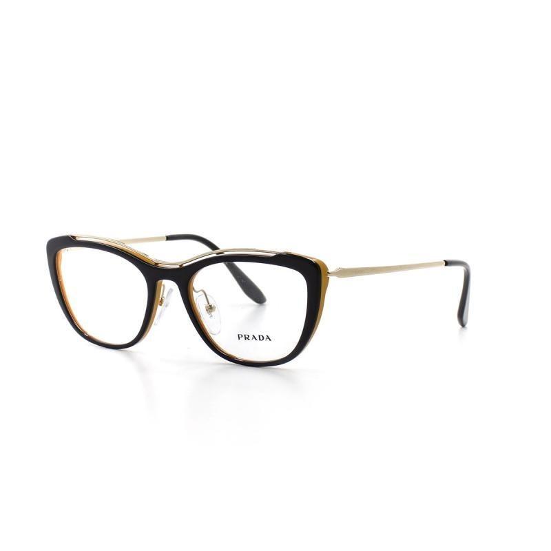 ebbdcbe1fb6bf óculos de grau feminino prada 04v t 53 c wu01o1 preto. Carregando zoom.