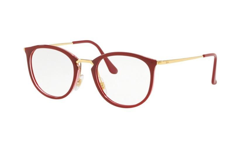 08411e0d4 Oculos Ray Ban De Grau Feminino Vermelho - NYC