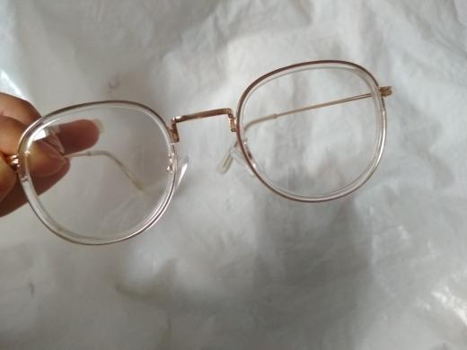 4cfa1888f8ed0 Óculos De Grau Feminino Redondo Transparente Dourado - R  57,90 em Mercado  Livre