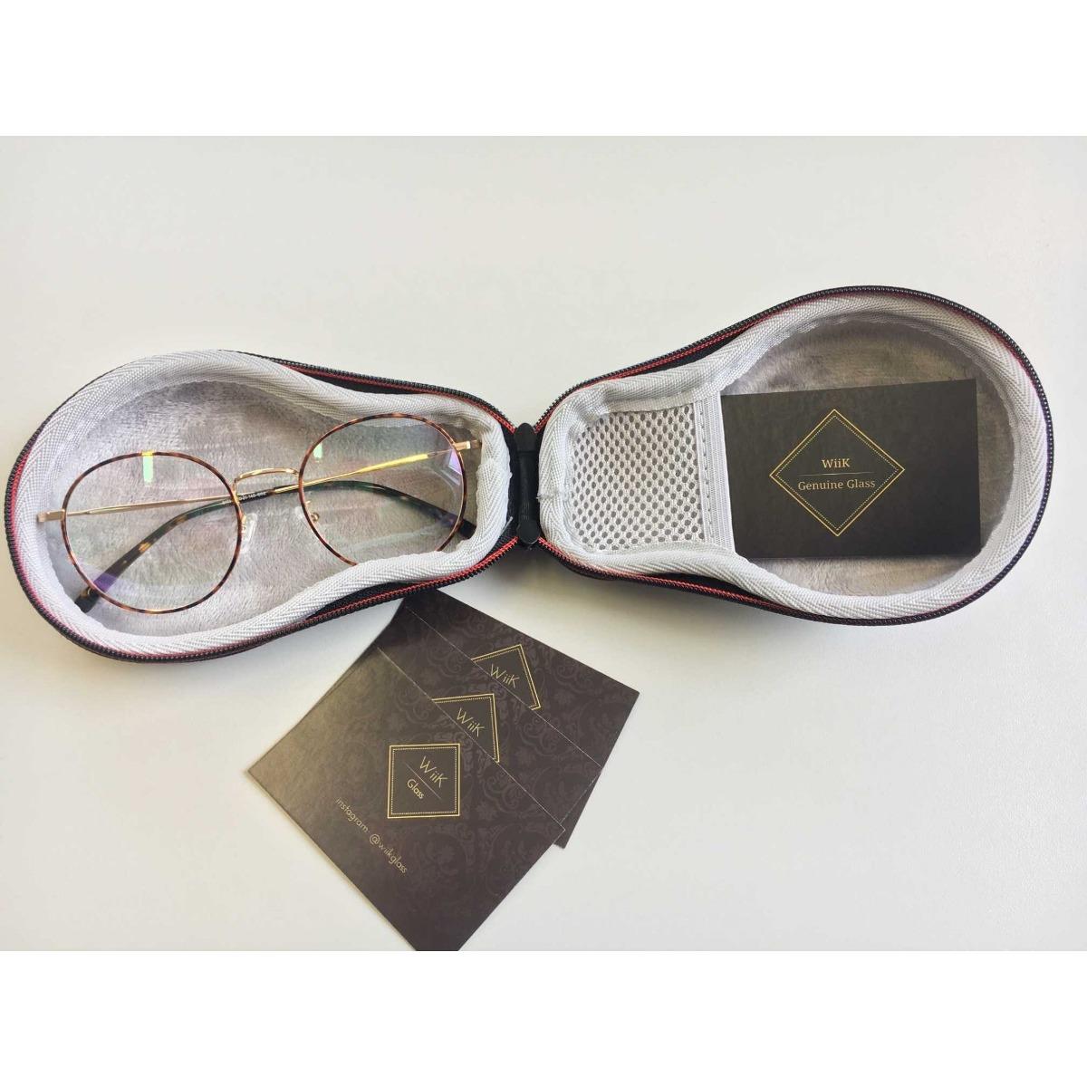 e1ca52d46c468 óculos de grau feminino redondo wiikglass top marrom. Carregando zoom.