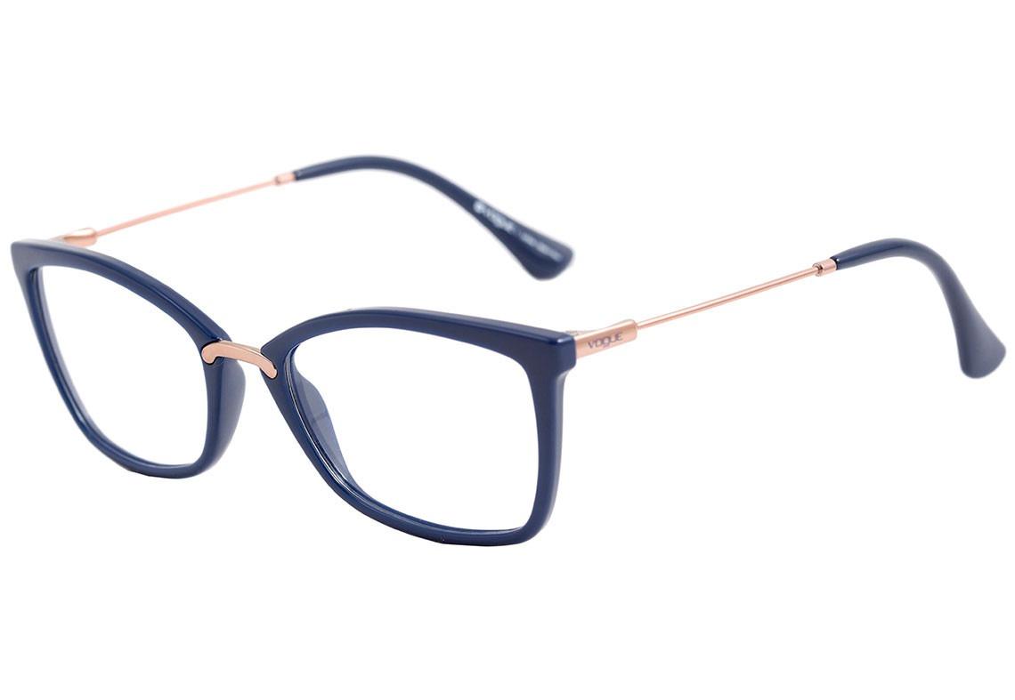 9b197c6eb1ab3 óculos de grau feminino vogue vo 5158 2288 azul - original. Carregando zoom.