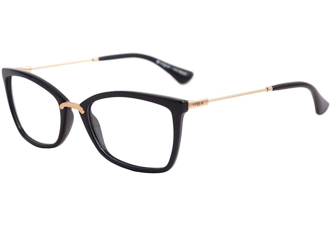 2fbdfd96663b7 óculos de grau feminino vogue vo 5158 w44 preto - original. Carregando zoom.