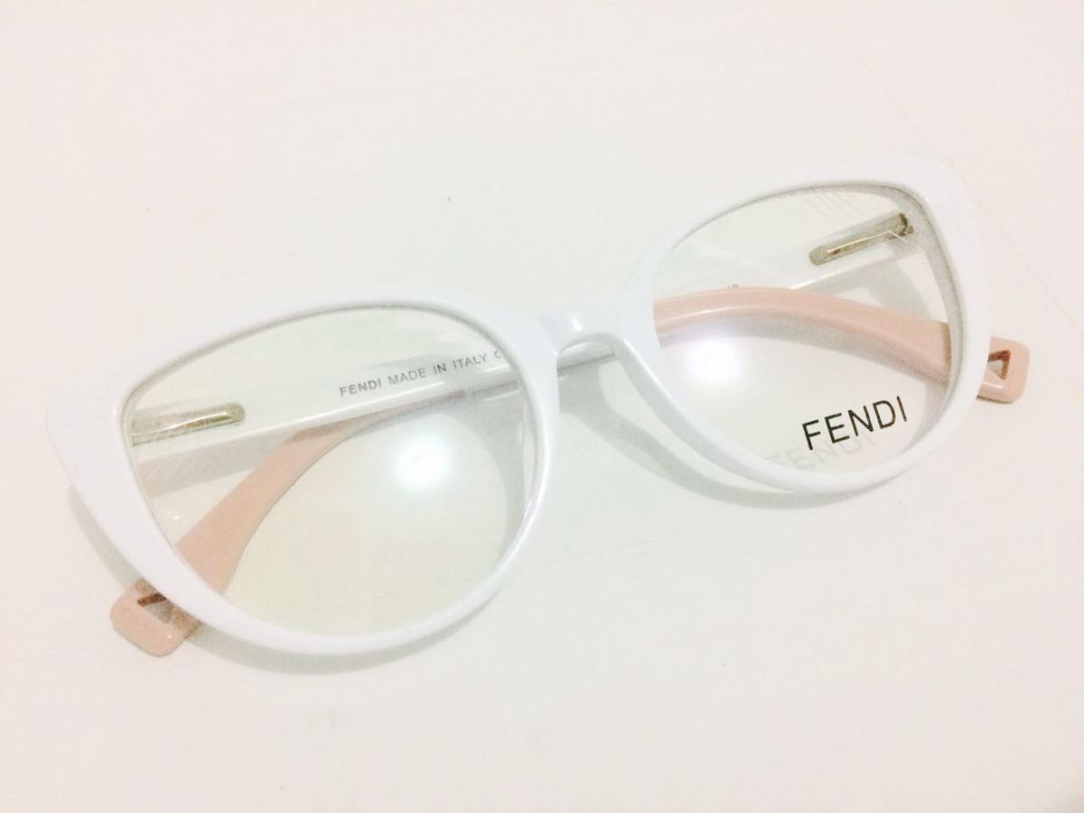 oculos de grau gatinho fendi acetato branco - frete gratis. Carregando zoom. 8a627c8552