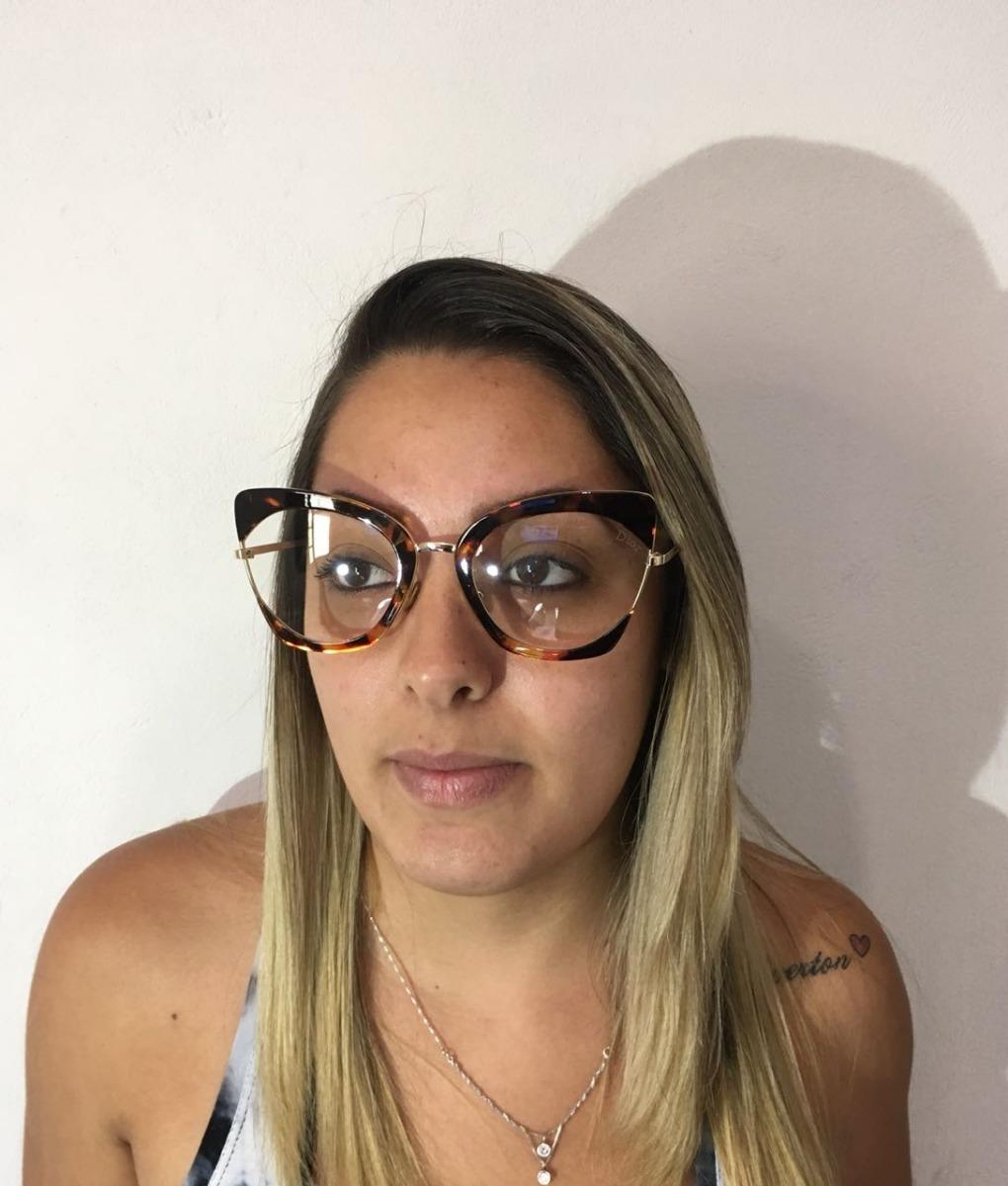 dd7fe5b0ea921 oculos de grau grande onça quadrado feminino top -di1002. Carregando zoom.