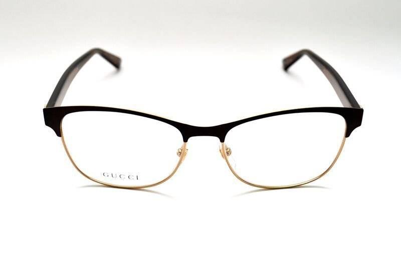 5c4377b6b óculos de grau gucci gg4285 marrom metal dourado e acetato. Carregando zoom.