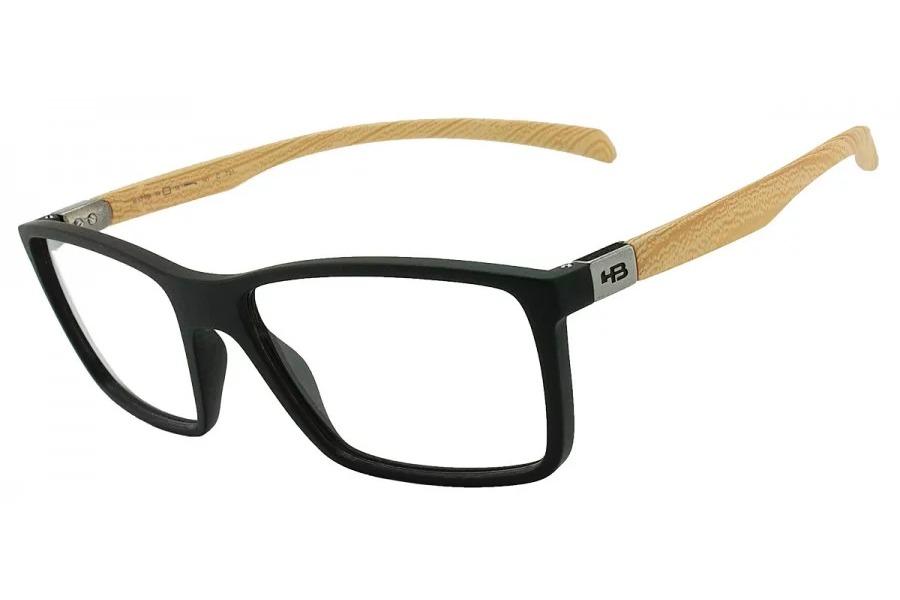 f73446f6a óculos de grau hb polytech 93136/55 preto fosco e estilo mad. Carregando  zoom.
