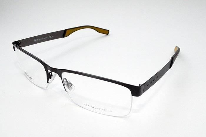 ebaff8b4e5a08 Óculos De Grau Hugo Boss Masculino Boss0565 Metal Marrom - R  822,00 ...
