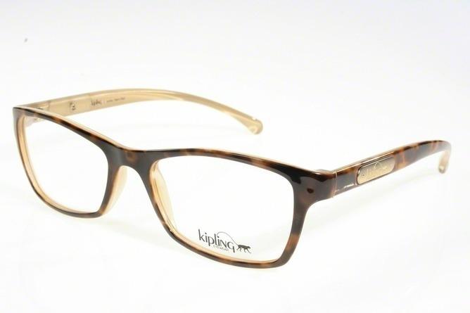 4378b4bfcf976 Óculos De Grau Kipling Kp3059 B822 Tartaruga Lente Tam 51 - R  205 ...