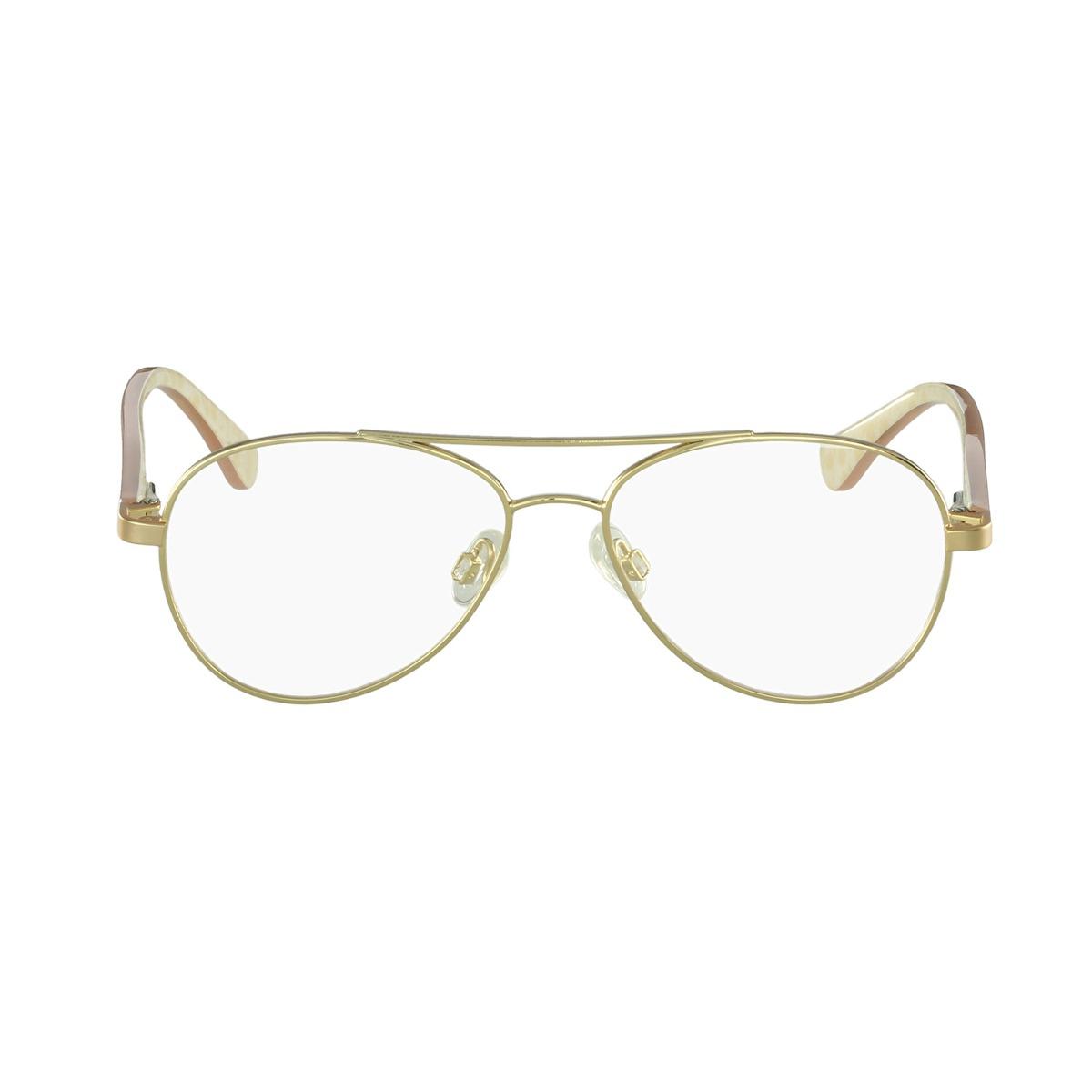 Óculos De Grau Lilica Ripilica Aviador Dourado - R  300,00 em ... bfe2f8c074