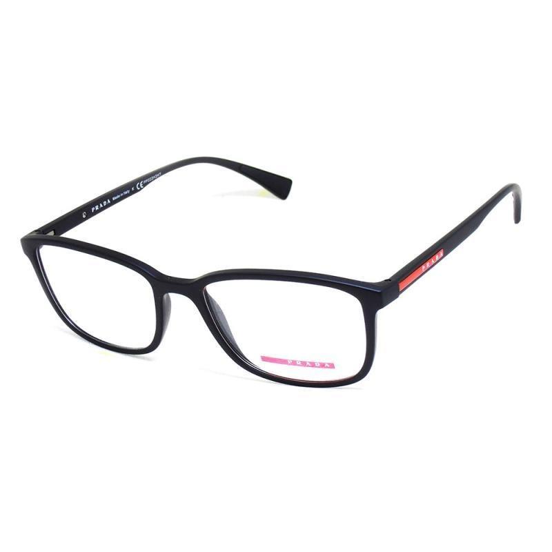 a3ee2b1eacd96 óculos de grau masculino prada 04i t 55 c preto fosco. Carregando zoom.