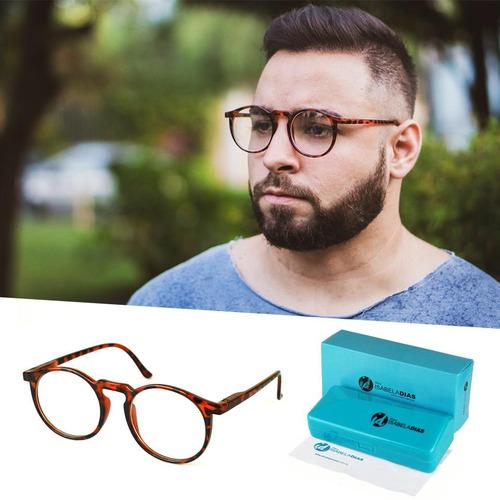 0d75909b297b3 Óculos De Grau Masculino Redondo Retrô Original 62019 - R  79