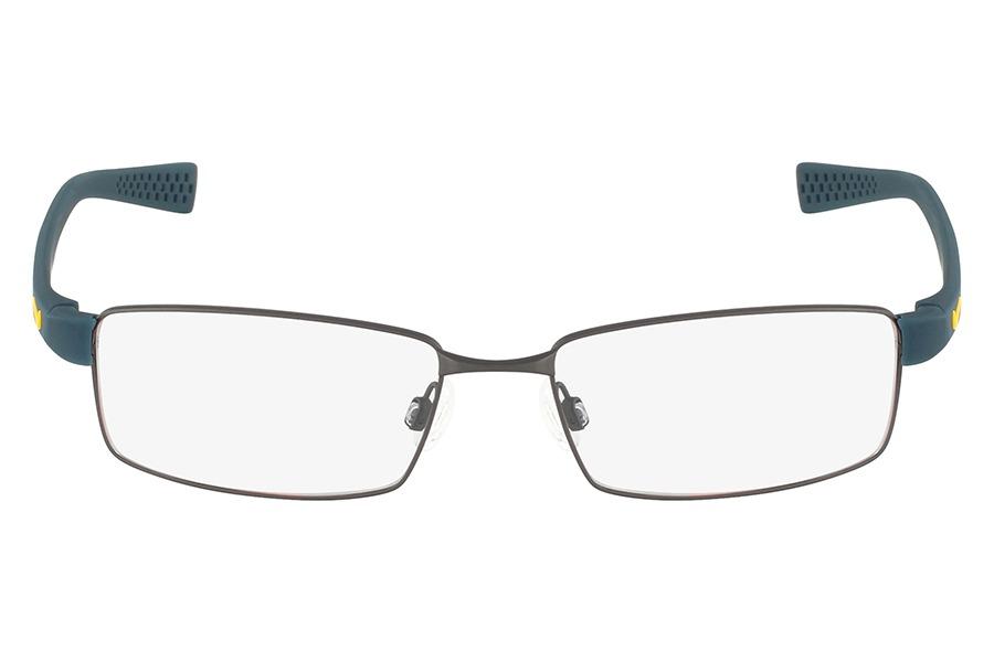 f101bdd4481c0 Óculos De Grau Nike 8162 060 50 Cinza Escuro Acetinado - R  376,79 ...