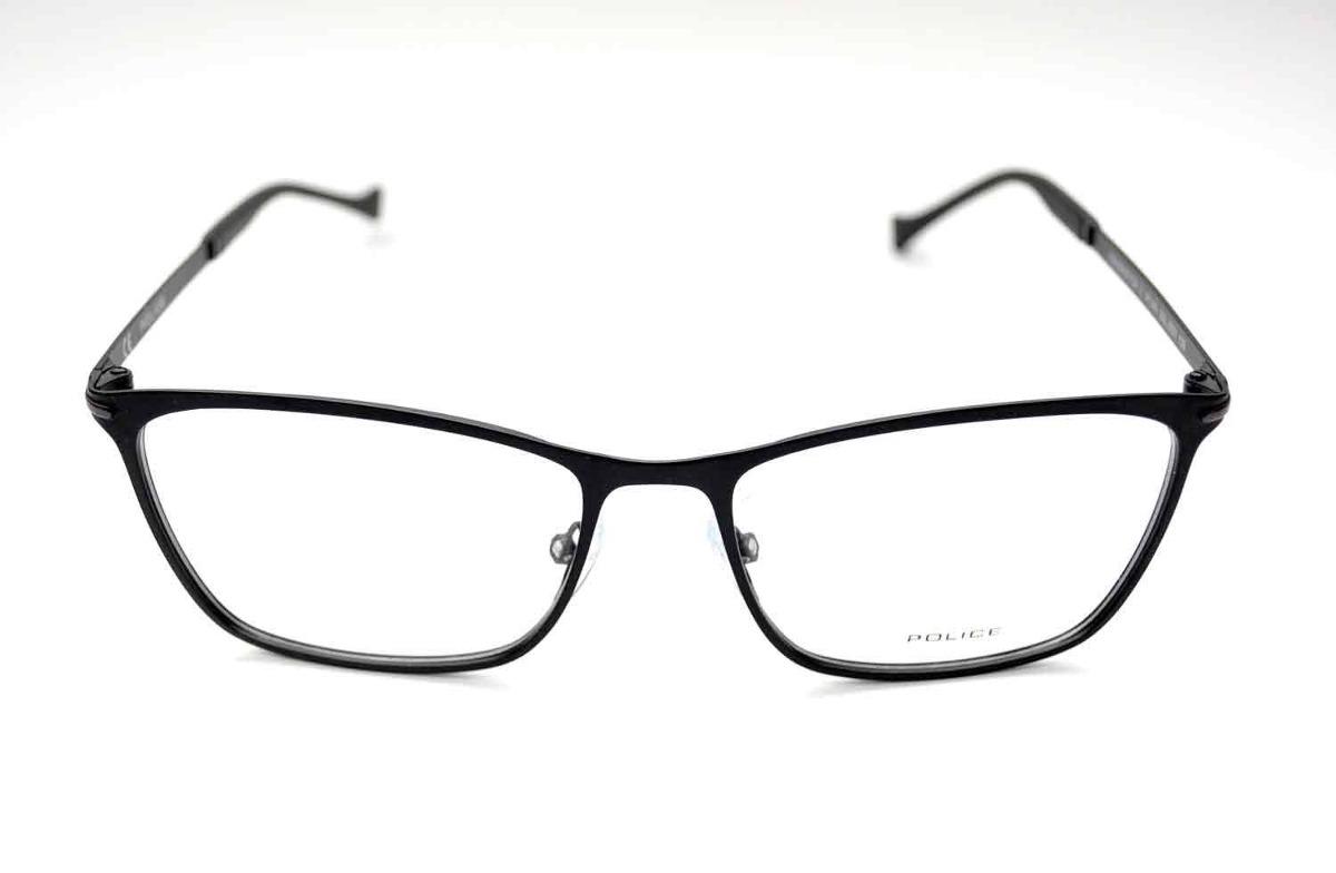 1c1b539f3c211 Óculos De Grau Police Vpl061 Metal Preto Médio - R  684,00 em ...