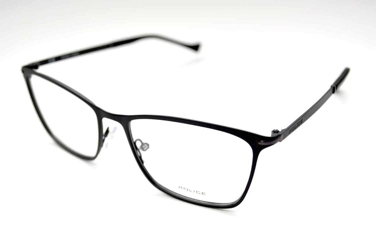 10e0160697d7f óculos de grau police vpl061 metal preto médio. Carregando zoom.
