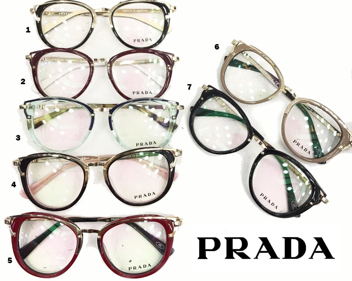 287e9328ae9b8 oculos de grau prada armação vários cores lindas lançamento. Carregando  zoom.
