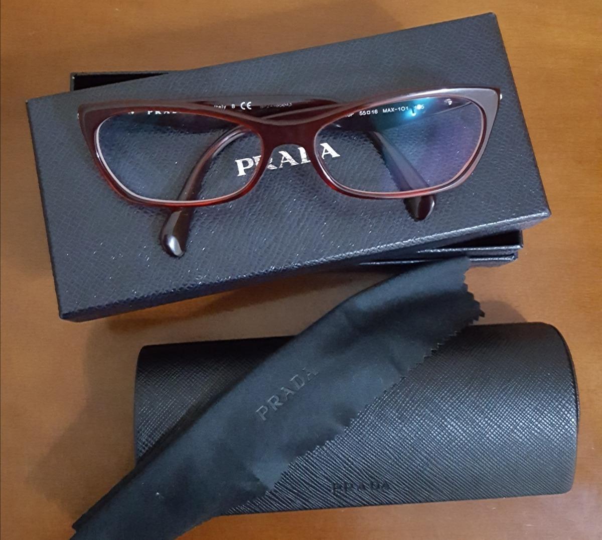 ccd006969b9ad óculos de grau prada oficial vermelho modelo gatinho. Carregando zoom.