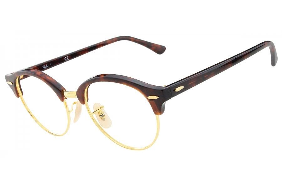 97e45e6b8 óculos de grau ray ban clubround rx4246v 2372/49 tartaruga. Carregando zoom.