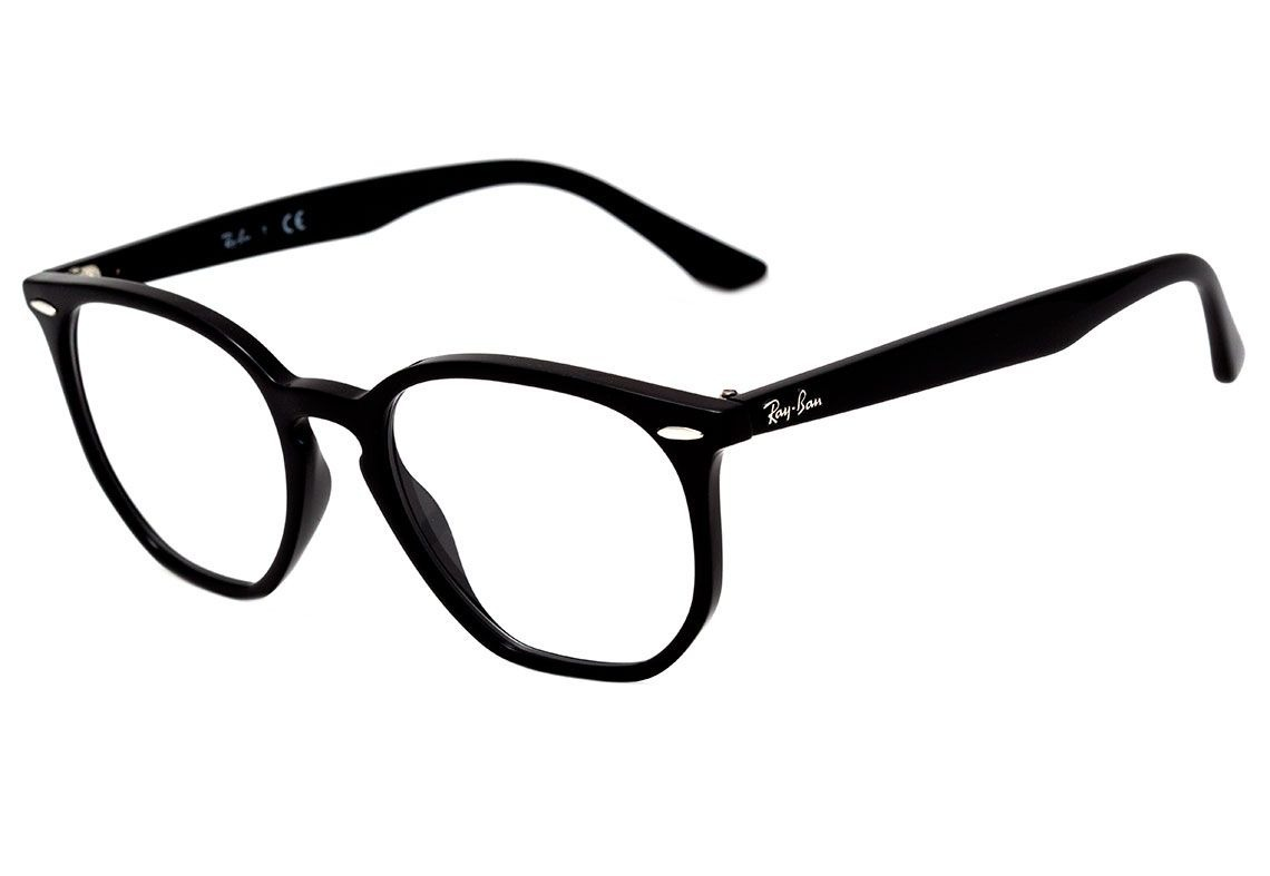 e1239c87c209b óculos de grau ray ban hexagonal rb7151 2000 preto original. Carregando zoom .