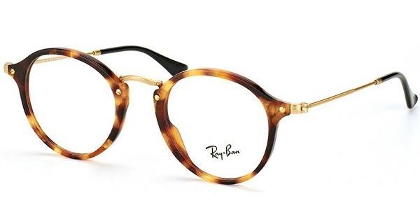 2be4bd8a7ef84 Óculos De Grau Ray-ban Round 2447v 5494 Fleck - R  398