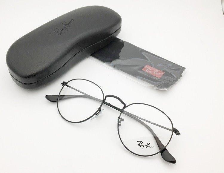 2bad7ee64582a óculos de grau ray ban round metal 2904 preto lente