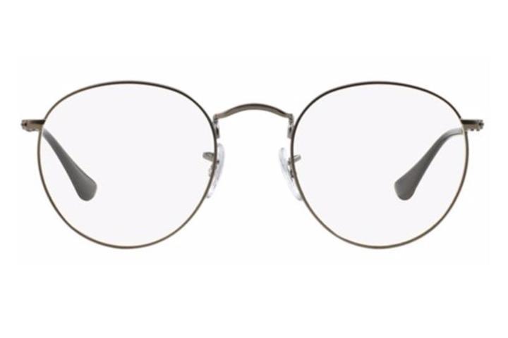 47b23ee47b389 Óculos De Grau Ray Ban Round Metal Rb3447 Grafite Médio - R  479,00 ...