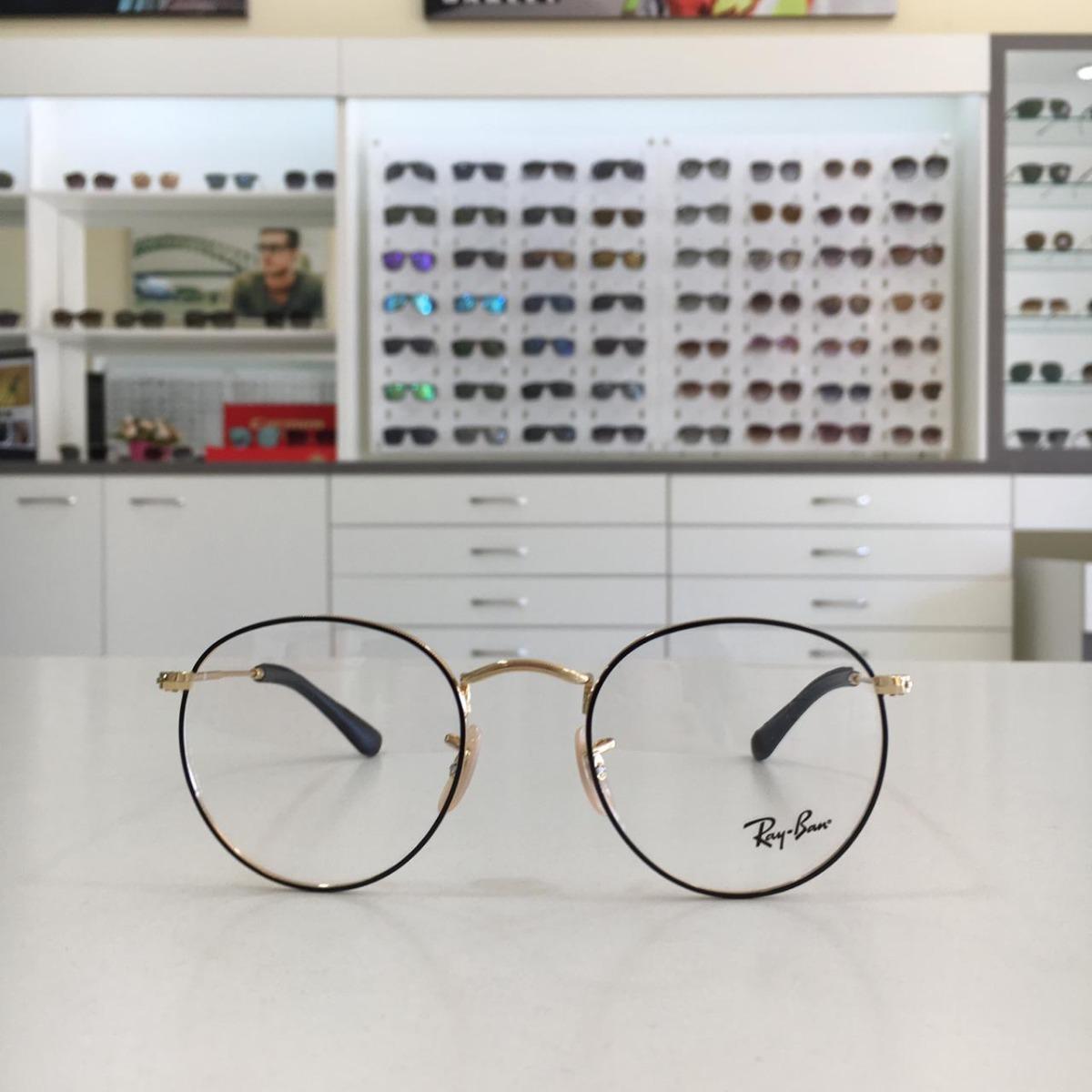 9f7fd673d Óculos De Grau Ray Ban Round Rb 3447 2946 - Original - R$ 339,00 em ...