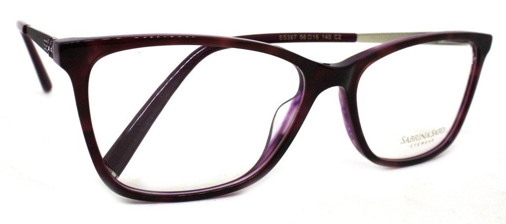 7d6cfdf6c óculos de grau sabrina sato ss387 acetato c2 roxo original. Carregando zoom.