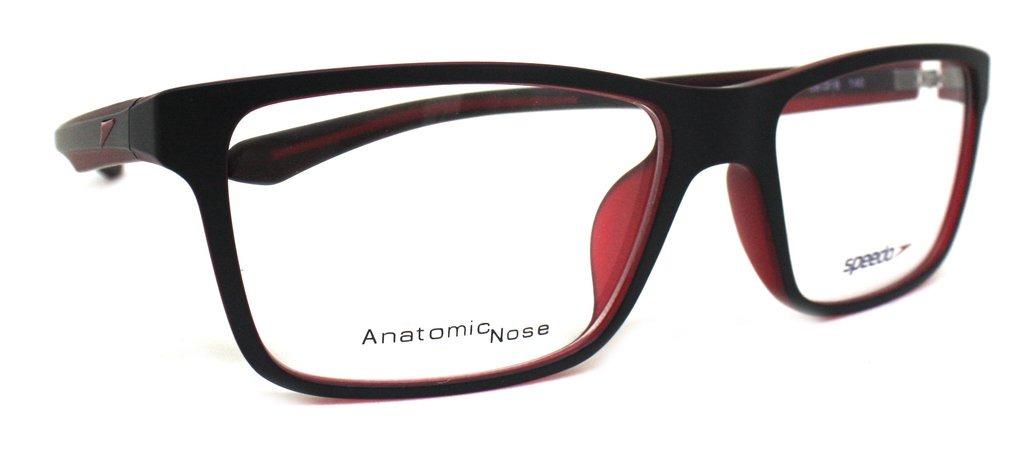 a220ecffb3d03 Óculos De Grau Speedo Sp4059 (preto vermelho A02, 58-18-140) - R ...