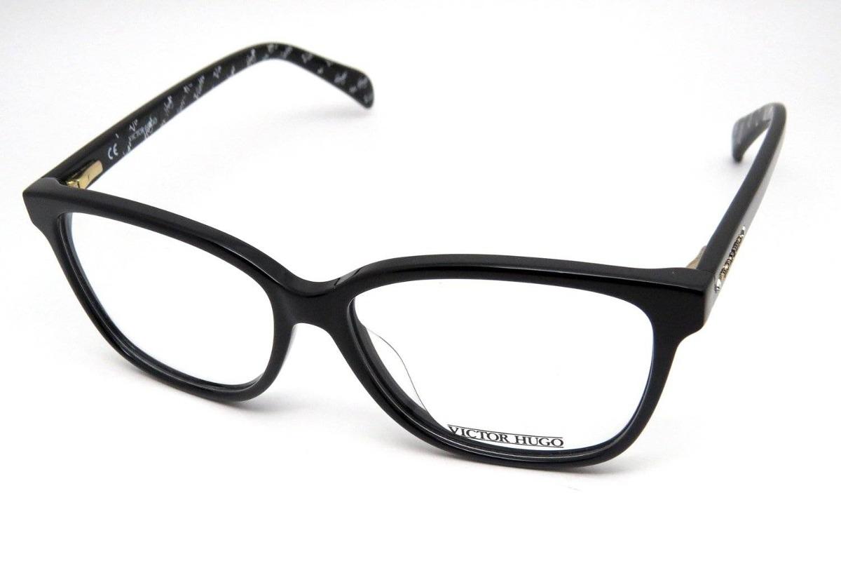 fdc09df6bf8e0 óculos de grau victor hugo vh1101s acetato preto. Carregando zoom.